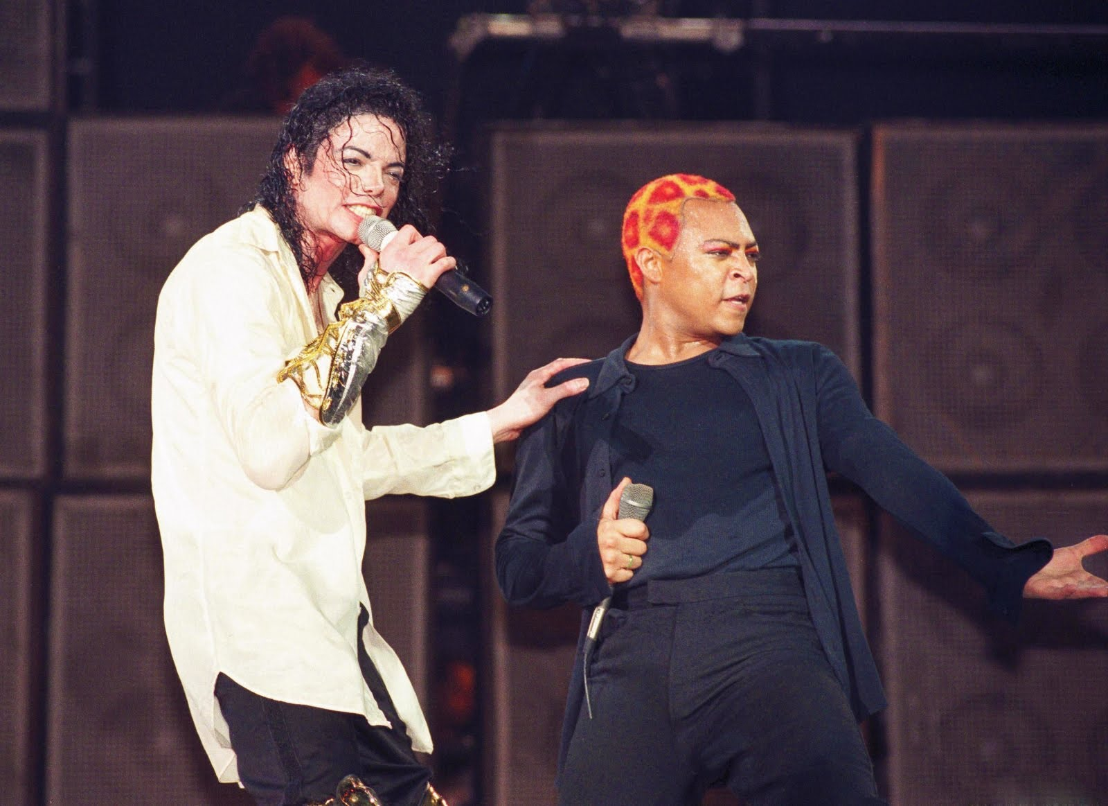 Michael Jackson e LaVelle Smith Jr no palco