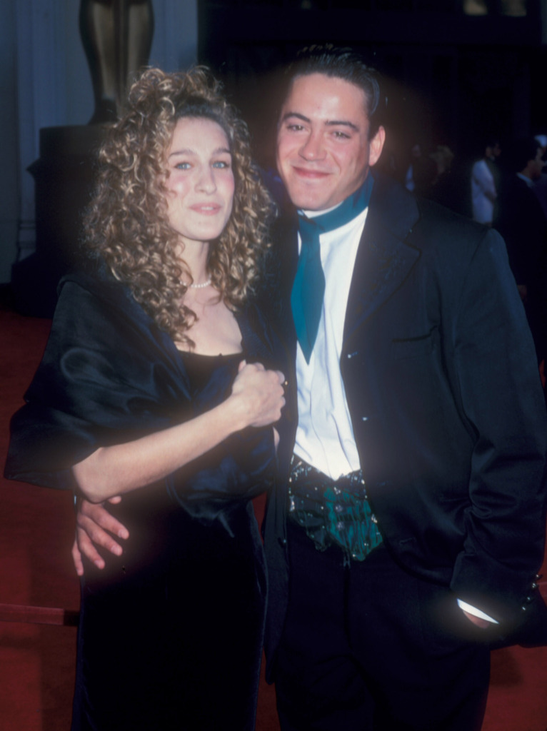 Casal improvável hoje: Sarah Jessica Parker and Robert Downey Jr. no Oscar de 1989