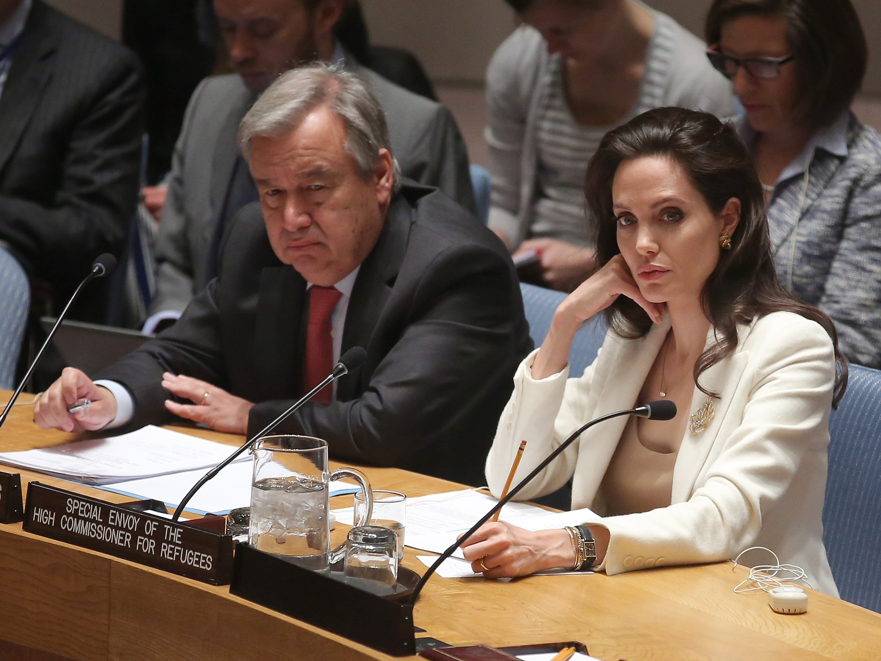 > at United Nations on April 24, 2015 in New York City.