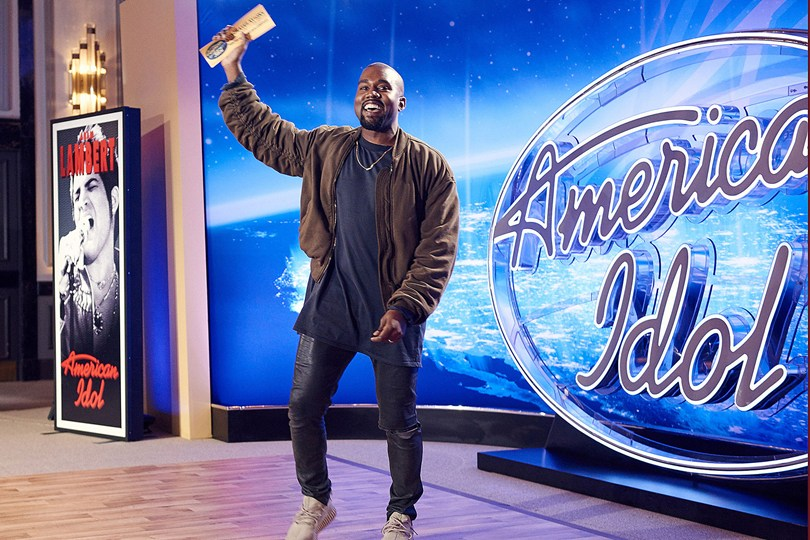 """017d89f667275 Rapper Kanye West participa do """"American Idol"""" como candidato"""