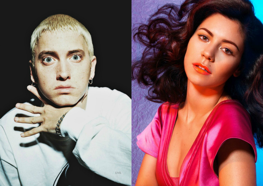 Eminem e Marina Diamandis, do Marina and the Diamonds