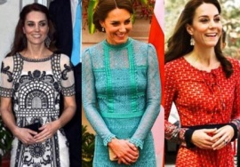 Os looks usados por Kate Middleton na Índia