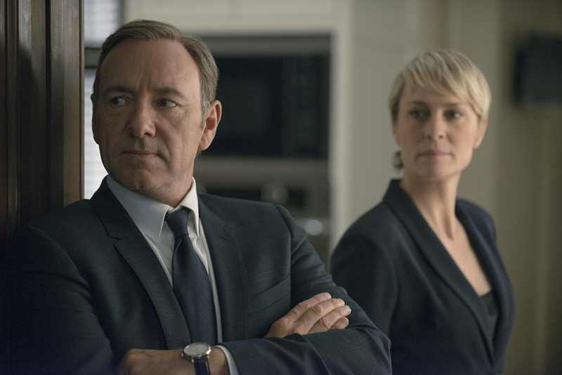 Kevin Spacey e Robin Wright são os protagonistas de 'House of Cards'