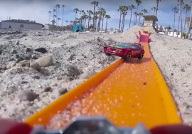 Pista de Hot Wheels foi montada na Califórnia