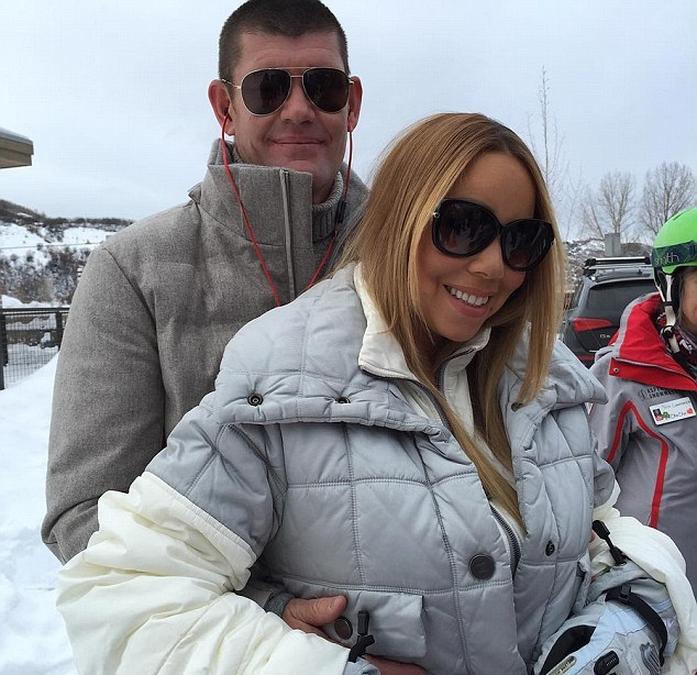 Mariah Carey e o noivo, James Packer