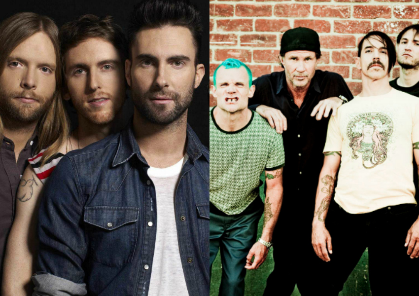 Maroon 5 e Red Hot Chili Peppers