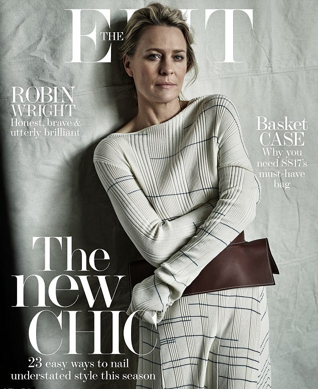Robin Wright na capa da The Edit