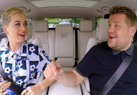 Katy Perry participou do Carpool Karaoke com James Corden