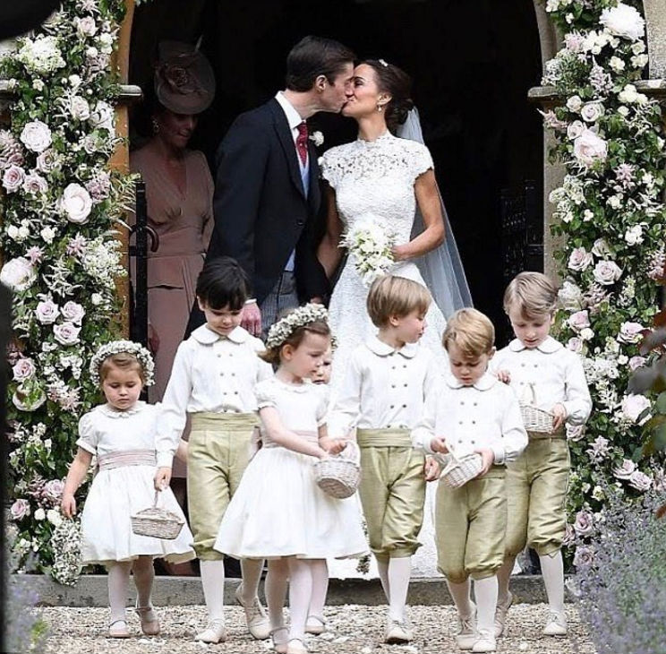 Os noivos Pippa Middleton e James Matthews