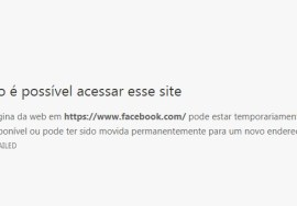 Facebook fora do ar