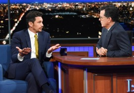 James Franco no The Late Show with Stephen Colbert